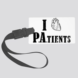 I Heart Patients Large Luggage Tag