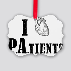 I Heart Patients Picture Ornament