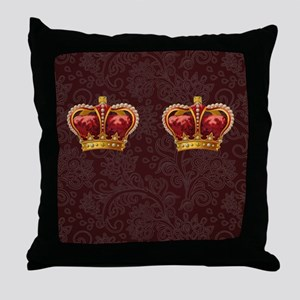Gold Crown - royalty for walking Throw Pillow