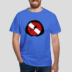Diver Down Shark Jaw Original Dark T-Shirt