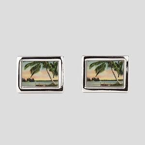 Vintage Coconut Palms Cufflinks