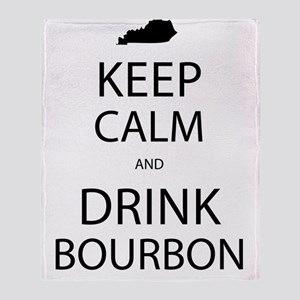 Keep Calm and Drink Bourbon Throw Blanket