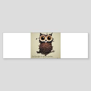 Owl says COFFEE!! Bumper Sticker