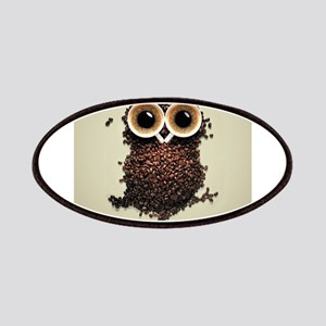 Owl says COFFEE!! Patches