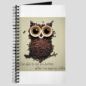 Owl says COFFEE!! Journal