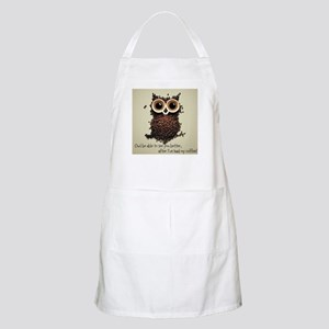 Owl says COFFEE!! Apron