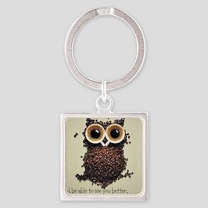 Owl says COFFEE!! Keychains