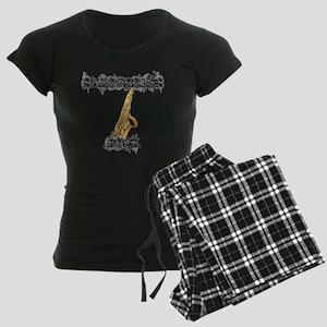Saxophones Rock Women's Dark Pajamas
