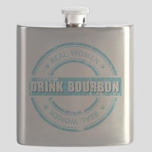 Real Women Drink Bourbon Flask