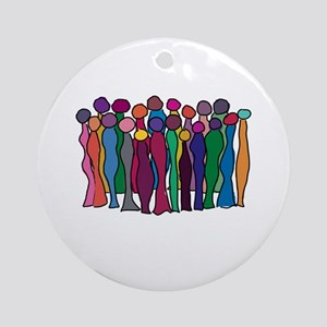 Circle Of Goddesses Ornament (Round)