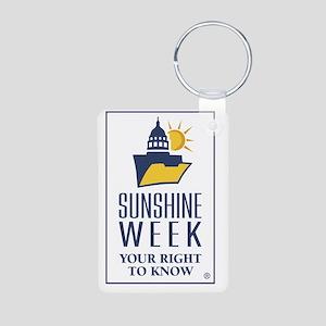 Sunshine Week Logo V Aluminum Photo Keychain
