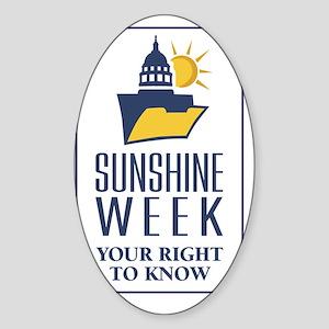 Sunshine Week Logo V Sticker (Oval)