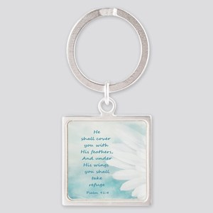 Scripture Psalm 91:4 Refuge Under His Wi Keychains