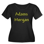Adams Morgan Women's Plus Size Scoop Neck Dark T-S