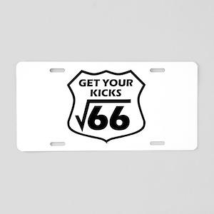 Root 66 Aluminum License Plate