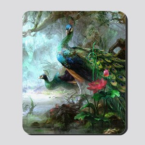Beautiful Peacock Painting Mousepad