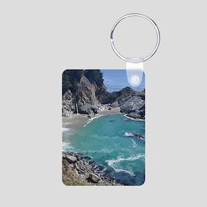 Big Sur Waterfall, Julia P Aluminum Photo Keychain