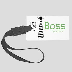 Boss Man Large Luggage Tag