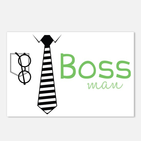 Boss Man Postcards (Package of 8)