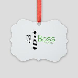 Boss Man Picture Ornament