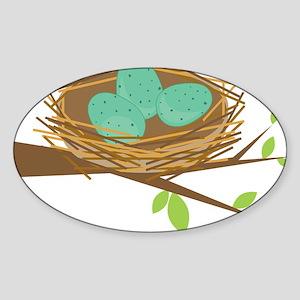 Robin's Nest Sticker (Oval)