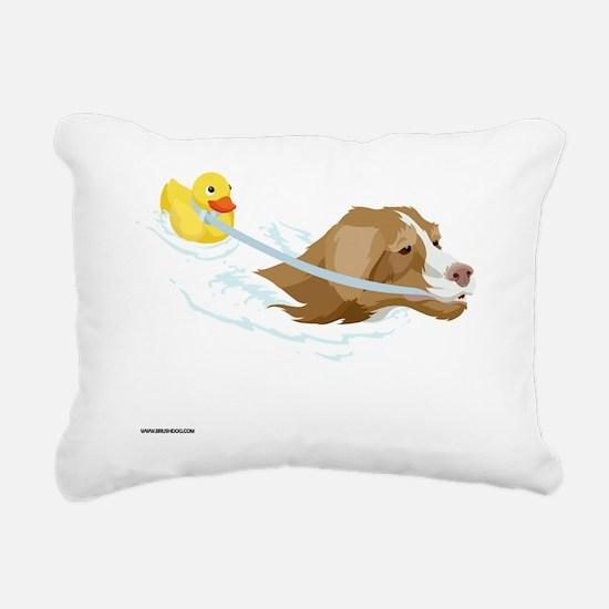 Toller_Ducky_10x10_appar Rectangular Canvas Pillow