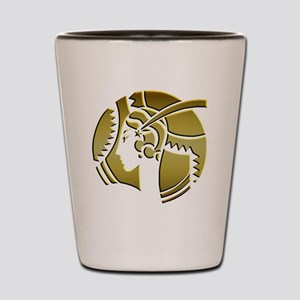 Golden Art Deco Lady Shot Glass