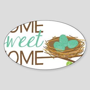 Home Sweet Home Sticker (Oval)