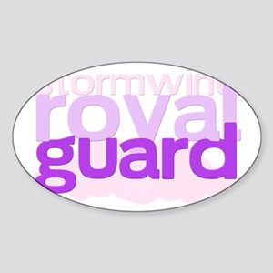 stormwind royal guard Sticker (Oval)