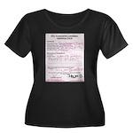 bjsite Women's Plus Size Scoop Neck Dark T-Shirt