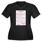 bjsite Women's Fatso Size V-Neck Dark T-Shirt