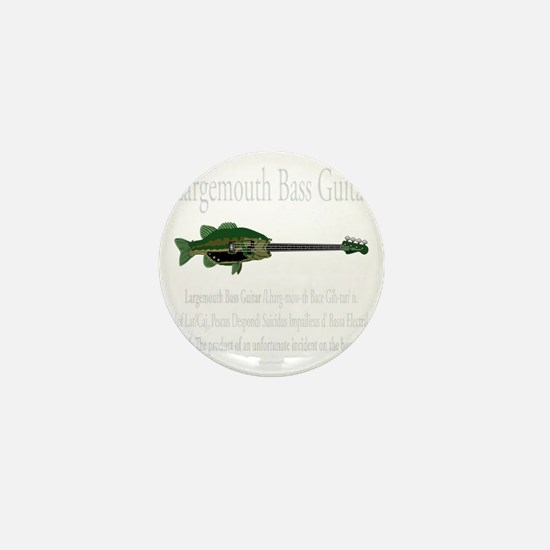 Largemouth Bass Guitar Mini Button