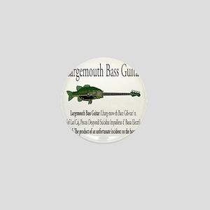 Largemouth Bass Guitar Mini Button