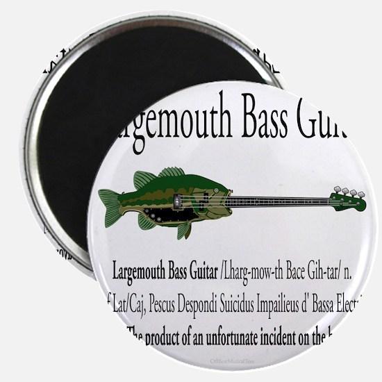 Largemouth Bass Guitar Magnet