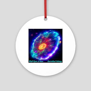 Cartwheel Galaxy Round Ornament