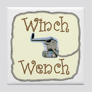 Winch Wench Tile Coaster