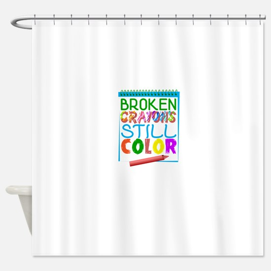 Broken Crayons Still Color Shower Curtain