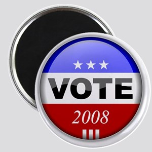 Vote Button 2008 Magnet