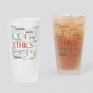 Ethics word concept illustration Drinking Glass