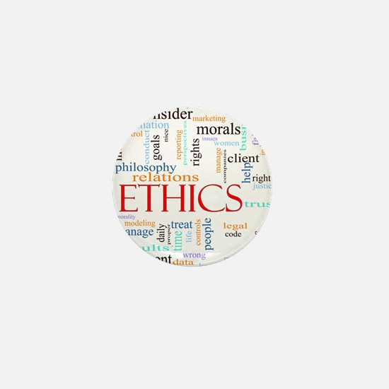 Ethics word concept illustration Mini Button