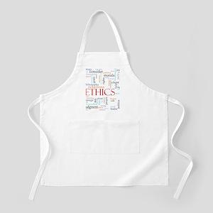 Ethics word concept illustration Apron