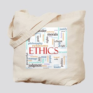 Ethics word concept illustration Tote Bag