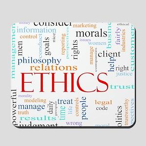 Ethics word concept illustration Mousepad