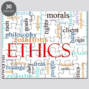 Ethics word concept illustration Puzzle