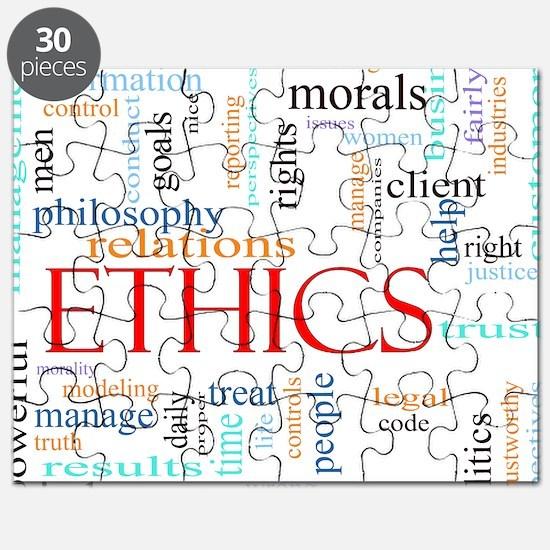Ethics word concept illustration Puzzle