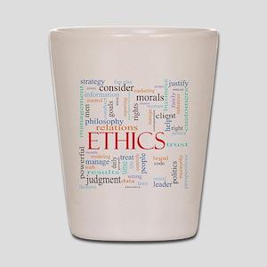 Ethics word concept illustration Shot Glass