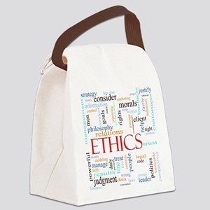 Ethics word concept illustration Canvas Lunch Bag