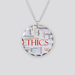 Ethics word concept illustra Necklace Circle Charm