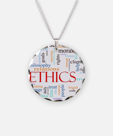 Ethics word concept illustra Necklace