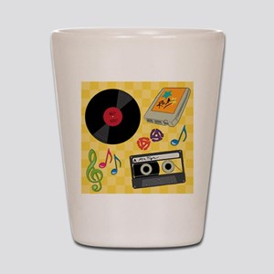 Retro Music Collection Shot Glass